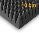 Pyra 10000 , ca 50x50x10cm , nero antracite, FSE ( ignifugo a MVSS302 ) ( unità = 8 lastre = circa 2 mq)