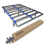 Duérmete Online KAMAKIT - Rete smontabile con telaio rinforzato da 40 x 30 mm, stabilità e fermezza, facile montaggio, tubo in acciaio 30 x 40 mm, vernice epossidica grigia, 90 x 200 cm