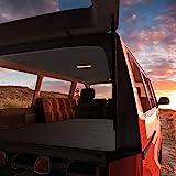 MSS®, materasso pieghevole per T4, T5, T6, VW Bus Multivan, antracite, a scelta con cuscino lounge e custodia, 185 x 147 x 8 cm