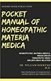 POCKET MANUAL OF HOMEOPATHIC MATERIA MEDICA AND REPERTORY (English Edition)