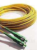 Elfcam - Cavo Fibra Ottica SC/APC per SC/APC simplex monomodale 9/125 , Compatibile con TIM Fibra, Vodafone Fibra, Wind Fibra e Tre Fibra, 1M