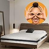 Sleepers - Materasso in memory foam, 9 zone, altezza 22 cm, 140 x 190 cm