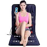 S&D Shiatsu Materasso Massaggiante Vita Relax Massage Jade Pietre Massaggiatore Lettino da Massaggio Sequenza per Allungare, Ondulare, Sollevare, Inarcare,Blue