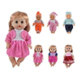 Regalo CZC Set di 6 Vestiti per Bambole da 12, 13, 14 Pollici (30cm-35cm), cuciti a 360°