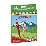 Alpino 722846, 18 Matite Colorate da 3,3 mm con Tempera-Matita Incluso