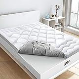 BedStory 【2020 Versione Topper 140 x 190 x 5 cm in 3D microfibra ad alta densità 1000 g/m², proteggi materasso antiacrico, traspirante, morbido, ideale per migliorare il comfort del materasso.