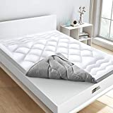 BedStory 【2020 Versione Topper 160 x 200 x 5 cm in 3D microfibra ad alta densità 1000 g/m², proteggi materasso antiacrico, traspirante, morbido, ideale per migliorare il comfort del materasso.
