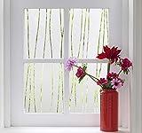 Finnez Pellicola per Vetri Finestre - Protezione della Privacy, Autoadesivo Statico Adesivi per finestre Decorazione per l'home Office Soggiorno Cucina (Strisce Irregolari 60 x 300 cm)