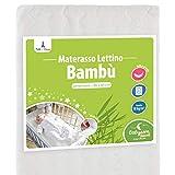 Babysom - Materasso Culla/Lettino Bamboo per Neonato - 90x40cm - Spessore 5cm - Sfoderabile - Garanzia 2 anni