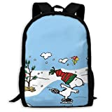 Mei-shop Zaino Casual da Sci SN-oopy Print Zipper School Bag Travel Daypack Backpack-3F