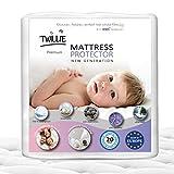 Twillie - Coprimaterasso 60 x 120 Impermeabile - Made in Europa - Oeko-Tex® - Aegis® - Traspirante - Proteggi Materasso Anallergico, Antiacari, Antibatterico Antimuffa - Igienico 100% Policotone