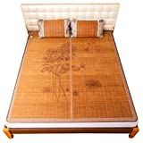 Bamboo Bed Mat Summer Sleeping Mat Bamboo Mattress Topper Piece Bamboo Mat King Mat Double-Sided Use Home Bedroom Cooling for Summer (Color : B, Size : 0.8 * 1.9M(34 * 74in))