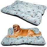 BPS BPS-14094AC - Materassino per cani e gatti, antiscivolo, dimensioni S/M/L, portatile, materasso per divano, cuscino morbido (S: 80 x 60 cm, blu chiaro)