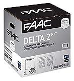 Faac Delta 2 Kit Automazione Per Cancelli Scorrevoli ad uso Residenziale con peso Max 500KG con lampeggiatore 230V motore encoder incluso e coppia di fotocellule XP 1056303445