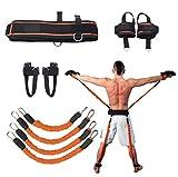 Sunsign Set di Esercizi con Fascia da 9 Pezzi per Braccia e Gambe Allenamento con Fascia per Esercizi di Fisioterapia e Pallacanestro Allenamento di Kick Boxing Impilabile Fino a 160 Libbre (Orange)
