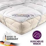 PROCAVE Micro-Comfort in Diverse Misure |Made in Germany | Coprimaterasso in Microfibra di Poliestere | Soft Touch | Adatto Anche per materassi a Molle e ad Acqua | 120x190 cm