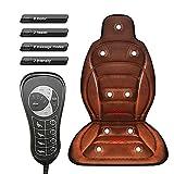 Al-Sheikh UG - Cuscino elettrico per auto, massaggiatore a 9 motori, 8 modalità di massaggio, massaggiatore per schiena, supporto cervicale, corpo lombare, cuscino multifunzionale con riscaldamento
