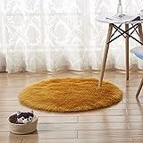 LZZR - Coprimaterasso per camera da letto, in morbida pelliccia sintetica, colore: rosa, per soggiorno, divano, divano, divano, camera da letto, materasso rotondo