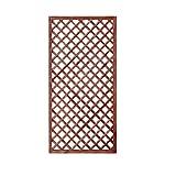 GrecoShop Griglia/Steccato/Pannello grigliato in Legno trattato per Giardino e terrazzo 180x90cm