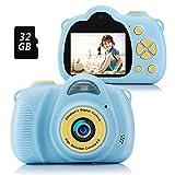 Fede Fotocamera per Bambini 12MP Macchina Fotografica 1080P HD Digitale Videocamera Bambini Giocattoli Regalo Ragazzi Ragazze da 3 a 12 Anni, Scheda TF 32 GB Inclusa