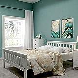 ModernLuxe - Cornice in legno a doppio piano 4ft6, 135 x 190 cm, colore: Bianco