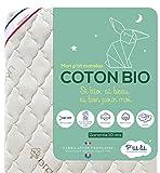 P'tit Lit - Materasso Bambino Cotone Bio - 60x120 cm - 100% Cotone : materiale di Origine Naturale - Esente da Trattamenti Chimici - Sfoderabile - Oeko Tex