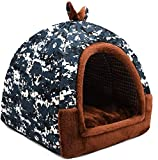 Soft Camouflage Figure Pet Nest Four Seasons Universal One-Use Dual-Use Removable Wash Small And Medium Velvet Cat Kennel Villa Warm Cushion(Size : M(8 kg Inside Pet))