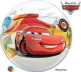 Qualatex 10185 Macchine Singolo Bolle Disney Pixar Saetta McQueen e Mater Palloncino in Lattice, 22-inch