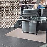 Tappeti Vinile Protettivi - Tappeto per Barbecue con Design Antimacchia, Ignifugo - Tappeto Salvapavimento Multifuzione, Interno, Esterno - 17 tonalità e 3 Misure - 90x120 cm - Matera