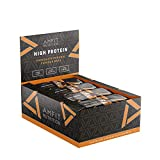 Marchio Amazon- Amfit Nutrition Barretta proteica a basso contenuto di zuccheri (19,6gr proteine - 1,6gr zucchero) - caramello cioccolato - Confezione da 12 (12x60g)