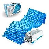 Mobiclinic, Mobi 1, Materasso antidecubito a pressione alternata, con compressore, PVC medico ignifugo, 200 x 90 x 7, 130 cellette, Blu