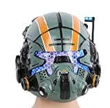 Xcoser Halloween Casco Deluxe Verde Resina Maschera with LED Game Cosplay Costume Replica for Men Fancy Dress Clothing Accessories