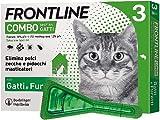 Frontline Combo, 3 Pipette, Antiparassitario per Gatti, Gattini e Furetti di Lunga Durata, Protegge da Pulci, Zecche, Uova, Larve e Anche la Casa, Antipulci In Confezione da 3 Pipette da 0.5 ml