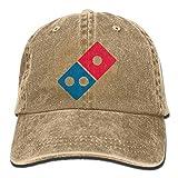 ANIDOG Dominos Pizza Logo Berretti da Baseball Regolabili Unisex Cappelli in Denim Cowboy Sport Outdoor