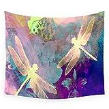 KWYAN Arazzo Libellule Orchidee Materasso Viaggio Cuscino Dormire Tovaglia Tenda Biancheria Letto Dormitorio College Decorazione Domestica 200cmx150cm