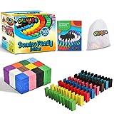 Calmado - 360pz Tasselli del Domino / Domino in Legno Set Domino Family Edition + Borsa + Istruzioni
