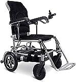 OUWTE Sedia a rotelle elettrica per Anziani Freno elettromagnetico Batteria al Litio Il bracciolo Pieghevole Portatile può Essere alzato Lega di Alluminio Gonfiabile Solida