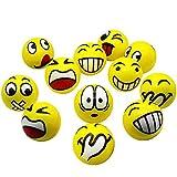 Emoji Anti-Stress Palla Stress Compressione Palla Facciale Giocattolo per Adulti E Bambini Festa di Compleanno O Natale Regalo di Natale 12 PCS