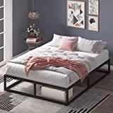 ZINUS Joseph 25 cm Telaio del letto con piattaforma in metallo | Base per materasso | Supporto per doghe in legno | Contenitore sotto al letto | 120 x 190 cm | Nero