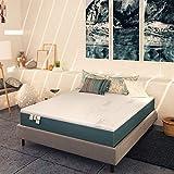 Baldiflex Materasso Una Piazza e Mezza Memory Plus Top Fresh 4 Strati 120 x 190 cm Alto 25 cm, Rivestimento Sfoderabile Aloe Vera Cus. Saponetta incl.