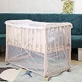 HB.YE - Zanzariera per lettino da bambino, trasparente, con chiusura lampo, rete anti-zanzare, per letto 60 x 120 cm