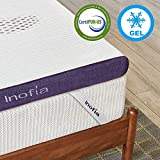 Inofia 8CM Memory Foam Mattress Topper,Gel Mattress Topper with Washable & Removable Cover, Soft Bed Topper for Sofa or Mattress,100-Night Risk Free Trail (90x190cm)