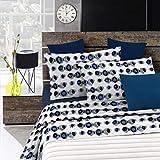 Italian Bed Linen Fantasy Completo Letto, Microfibra, Multicolore (Optical), A Una Piazza e Mezza