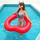 \t Piscina Galleggianti Cerchio Gonfiabile di Nuoto del Materasso di Galleggiamento del Partito di Stagno del Partito di Piscina Gonfiabile degli Anelli Dolce di Nuoto -Servizio Vita Red- 120CM