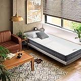 BedStory - Materasso Ortopedico in Schiuma Fredda a 7 Zone, durezza: 2 in 1, durezza H2&H3, 140 x 200 cm, 18 cm, Grau, 90 x 200 cm