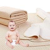 4 Strati Impermeabile Coprimaterasso Salvapipi Lavabile Proteggi Materasso Lettino bambino Adulto Notte Asciutta Bed Pad (60 * 100cm)