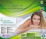 Dry N Comfort - Coprimaterasso impermeabile con chiusura lampo, 90 x 200 cm, per materassi di altezza 12 cm, 190 g, colore: Grigio