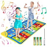 joylink Tappeto Musicale Bambini, Tappetino Pianoforte per Bambini Tappeto Pianoforte Giocattolo Tappetino Pianoforte Tappeto Tastiera Musicale Piano Mat Tappetino per Ballo 130 x48 cm
