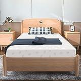 Kono - Materasso singolo in memory foam, materasso singolo in schiuma laminata, 90 x 190 cm