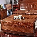 NCHEOI Summer Bamboo Mat Carbonizzato Cool Materassi a Doppio Lato Tappetini Pieghevoli per Dormire Biancheria da Letto (Size : A)